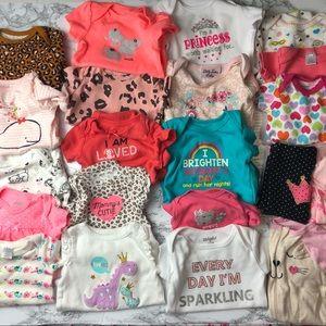 🎉 HP HUGE 0-3 months Baby infant Girls Bundle Lot